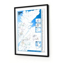 Framed Munro Map Print