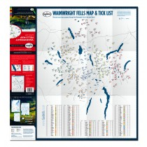 Wainwright Fells Map & Tick List Unfolded