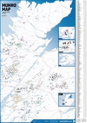 Munro Map with Munro Tick-List