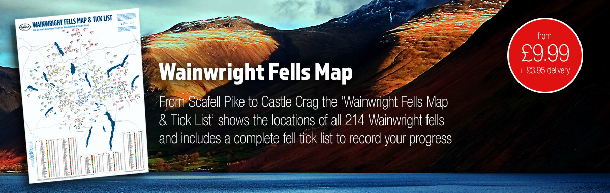 Wainwright Fells Map and Tick List
